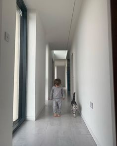 "Scottish Self Build on Instagram: ""'With a friend by your side no road (or corridor 😂) seems to long' 💕❤️🥰 #longcoridoor #contemporaryhome #selfbuildscotland…"" By Your Side, Corridor, Building A House, Scotland, Link, Glass, Instagram, Home Decor, Homemade Home Decor"