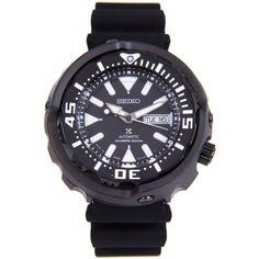 55a5aac4fc8 Seiko Men s SRPA81J1 Prospex Black Silicone Watch