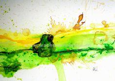 Sitzender Frosch - gerne male ich Ihnen auch einen Frosch auf malpappe. Für Ihren alten oder neuen Bilderrahmen. Werbeaktion: 60 Euro 30 x 40 cm