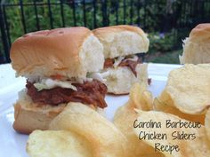 Crock Pot Carolina Barbecue Chicken Sliders Recipe