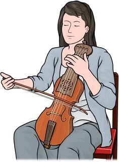 suka player : The suka is a traditional polish fiddle. shape is similar to a violin, however played vertically.