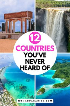 12 Countries You've Probably Never Heard of - Nomad Paradise. Surprising Travel Destinations Off the Beaten Path! Travel the World | Travel Inspiration | Beautiful Places | Adventure Travel | #travel