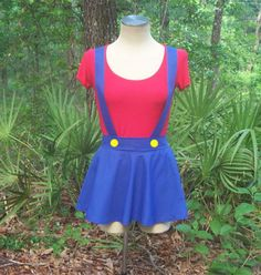 Mario Costume for Woman Super Mario Cosplay Female Cosplay