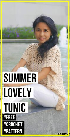 crochet Summer Lovely Tunic free pattern     #Top  #crorchet #freecrocehtpattern via @shareapattern.com