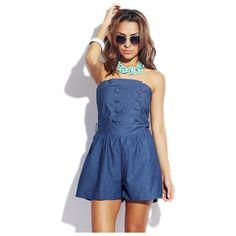 Blue Denim Playsuit by G2 Chic. Buy for $20 from buy.com