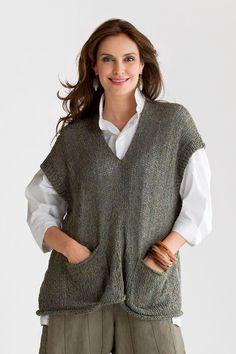 Aveon Vest: Amy Brill: Knit Sweater | Artful Home