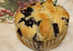 No Brainer Never-Fail Blueberry Muffins