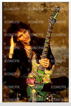 Whitesnake - guitarist Steve Vai photographed exclusively in the studio in London UK - Guitar Girl, Cool Guitar, David Coverdale, Steve Vai, David Lee, Alternative Music, Ibanez, Guitars, Legends