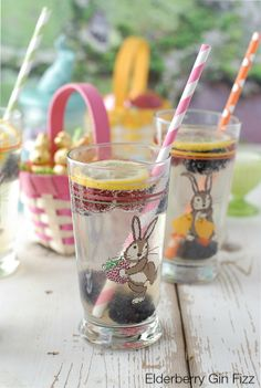 Elderberry Gin Fizz Easter Cocktail