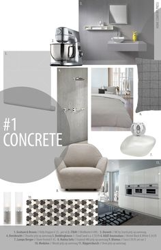 """Moodboard """"Concrete"""" by HCP  4. Dornbracht serie IMO"""