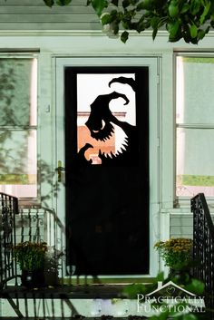 Now that you've decked out the inside of your home for Halloween, it's time to move on to outdoor decor and your doorway is an easy spot to decorate