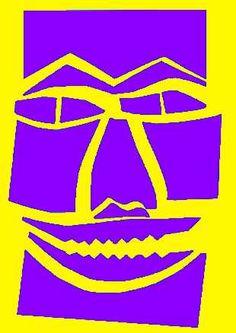 Kunstunterricht in der Grundschule - Grundschulkunst - Spaltschnitt Masken - Karneval