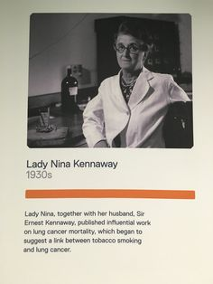 ICR history: Lady Nina Kennaway published research that helped to establish a link between smoking and cancer. Read more about our history…