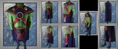 Awesome custom Martian Manhunter outfit! He also sells Superman, Aquaman,everyone!