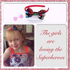 Who said superheroes were just for boys#girls#hairaccessories#handmade#bows#headbands#babyheadbands#babiesofinstagram#babygirl#cute#marvel #superheroes#standoutfromthecrowd #customerfeedback #satin#aliceband