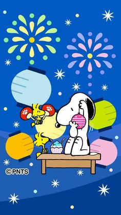 Christmas Holiday Cheer! Snoopy and Woodstock