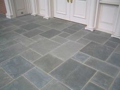 beautiful bluestone tile flooring garage floor tiles for ceramic floor tile Porch Tile, Porch Flooring, Basement Flooring, Bathroom Flooring, Kitchen Flooring, Kitchen Backsplash, Limestone Flooring, Slate Flooring, Flooring Options
