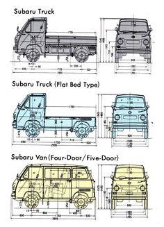 Small Trucks, Mini Trucks, Mini Camper, Camper Van, Retro Cars, Vintage Cars, Subaru Baja, Suzuki Carry, Mini Vans