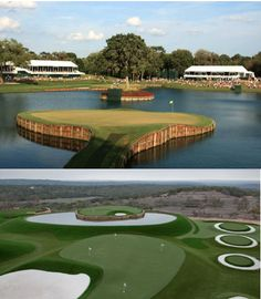 Dave Pelz' re-creates TPC Sawgrass island green with SYNLawn. #davepelz #synlawngolf