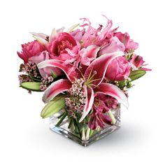 Love Story, lilies, roses, tulips, alstromeria, wasflower, anniversary, housewarming, wedding centerpieces