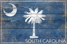 Rustic South Carolina State Flag - Lantern Press Artwork (Art Print Available) Wall Prints, Poster Prints, Art Print, Posters, South Carolina Flag, Artwork Lighting, Tacker, Acrylic Wall Art, Acrylic Photo