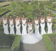 Photos Of A Bride And Her Bridesmaids Dressed In White - Events - Nigeria