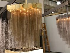 Brass chain lamp from ICFF 2012