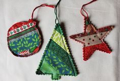 #FabricDiningRoomChairs Fabric Christmas Ornaments, Farmhouse Christmas Ornaments, Quilted Christmas Ornaments, Christmas Sewing, Christmas Quilting, Diy Ornaments, Etsy Christmas, Christmas Balls, Christmas Crafts