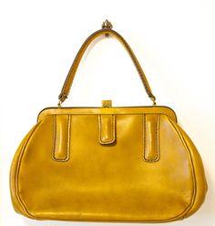 Vintage 1960s Mustard Brown/ Yellow Roger Van S. Handbag