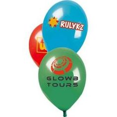 Multi colour print Latex Balloon - 0409638  Screen printed up to four colours and the option of two sizes of balloons.  #PromotionalGifts #LovePromo #OutstandingB #PrintedBalloons