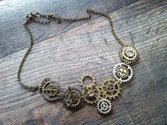 Times Passage by CognitiveByCatterall on Etsy Necklace Lengths, Cogs, Mixed Metals, Etsy Store, Steampunk, Times, Pendant, Silver