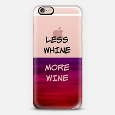 """LESS WHINE MORE WINE"" by Artist Julia Di sano, Ebi Emporium on @casetify Rich Bold Colorful Typography Witty Drink Font Transparent Abstract Minimalist Art Painting Dark Crimson Scarlet Red Purple Modern Chic Design Happy Hour Happy Life Transparent iPhone Samsung Tech Device Case #iPhoneCase #iPhone #iPhone6 #iPhone6s #iPhone6sPlus #iPhone5 #Samsung #phonecase #case #tech #techie #device #typography #wine #drinks #happyhour #life #funny #witty #transparent Get $10 off using code: 5K7VFT"