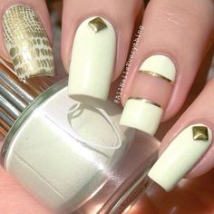 Classy nails using flossgloss nail lacquer by @FLOSS GLOSS LTD on Instagram