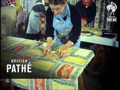 Housewives have found the remedy! Fabric Painting And Printing (1955) - YouTube (c) British Pathe