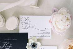 Black Tie Wedding Invitations Spring Wedding, Wedding Day, Dusty Blue Weddings, Black Tie Wedding, Blue Wedding Invitations, Industrial Wedding, Invitation Design, Bridal Style, South Carolina