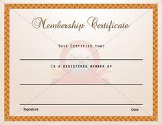 Membership Certificate Template | Certificate Templates ...
