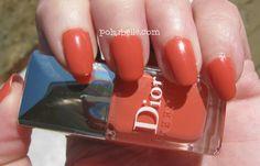 Not quite an orange...? Dior Bikini Nail Polish.  Click thru for review.