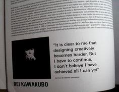 rei kawakubo quotes - Google Search