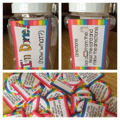 A jar activity for early finishers Summer Kubicki I like this idea because it gives students something to do when they finish early. It manages the class by keeping the occupied to reduce goofing off and nonsense chatter. 3rd Grade Classroom, Art Classroom, School Classroom, Classroom Activities, Classroom Ideas, Physics Classroom, Spelling Activities, Classroom Displays, Kindergarten Classroom