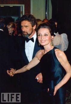 Audrey Hepburn and partner Robert Wolders