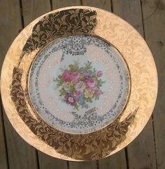 GOLD 22k Warranted Plate,   PADEN City Pottery  /  Filigree China / Pattern PCP240