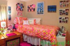 "My Lilly Pulitzer dorm room - ""Let's Cha Cha""   -North Carolina Belle"