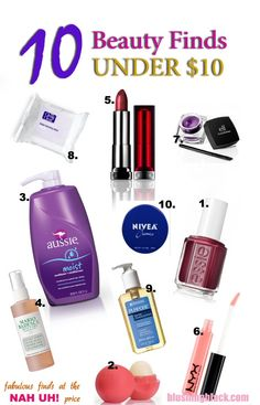 10 Beauty Finds Under $10 <--So glad I pinned this!