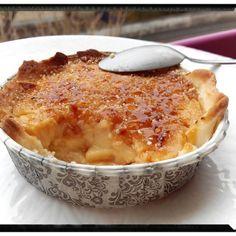 tarte aux pommes à la crème brûlée vanille