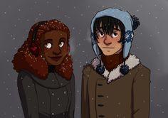 Nico and Hazel - art by malin-j