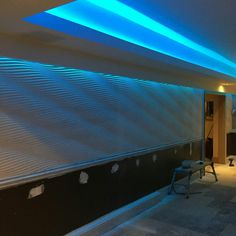 Our Dune 3d wall panel fitted in a restaurant and lit with LED lighting. Looks great www.3dwallpanels.co.uk