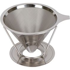 Stainless Steel Pour Over Coffee Dripper Reusable Permanent Drip Coffee Maker -- To view further for this item, visit the image link. (This is an affiliate link) Coffee Dripper, V60 Coffee, Coffee Cups, Pour Over Coffee, Appliance Parts, Perfect Cup, Small Appliances, Coffee Machine, Best Coffee