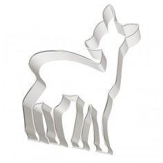 #design3000 #baking #backen #naschen #cookiecutter #deer #bambi Ausstechform Rehkitz - Motivausstecher.