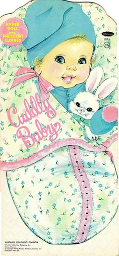 Cuddly Baby Paper Doll. The Cuddly Baby paper doll is from the year 1969 and are Whitman #1974.