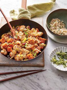 Szechuan Tofu with Cauliflower